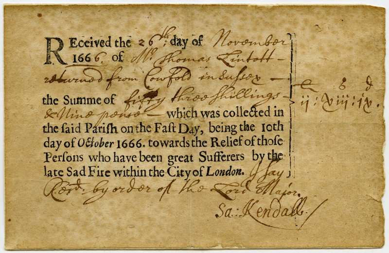 Photograph: small document with text printed in black on white paper with handwritten additions.